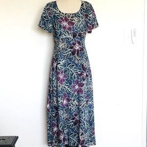 Hilo Hattie The Original Hawaiian Maxi Dress Sz S